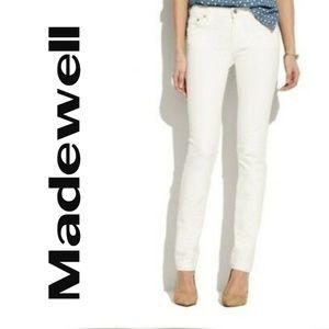 Madewell 27 Rail Straight Jeans White Straight Leg